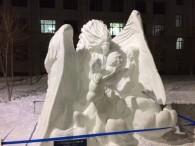 «Жар-птица» студентов ДВФУ выиграла в международном конкурсе снежных скульптур